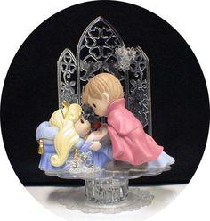 PRECIOUS MOMENT Sleeping Princess BEAUTY Prince Fairytale Wedding Cake Topper on eBay!