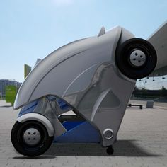 "The ""Armadillo"" - a foldable electric micro-car by KAIST. Never worry about parallel parking ever again!"