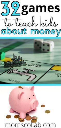 Fun, creative, and unique money games for kids! Help kids practice counting money in Kindergarten, 1st grade, 2nd grade, 3rd grade, and beyond! Kids and money games to learn how to handle money. #kidsgames #kidsactivities #learninggame #learningactivity #educationalgame #educationalactivity #homeschool Money Games For Kids, Teaching Kids Money, Board Games For Kids, Play Based Learning, Kids Learning Activities, Learning Through Play, Fun Learning, Educational Board Games, Educational Activities