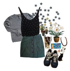 """""""love me do"""" by light-eyes-bright-skies ❤ liked on Polyvore featuring mode, New Balance, Sandro, Urban Outfitters, Topshop, Yves Saint Laurent, Gerber, Blue Q, Mudd en Calourette"""