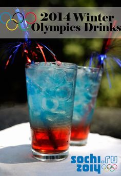Fashionably Sporty: Red, White, & Blue Olympics Drink Recipe