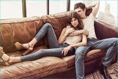 Antonina Petkovic and Cole Mohr for Koton Jeans' spring-summer 2016 campaign.