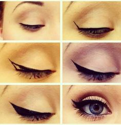 Beautiful winged eyeliner.