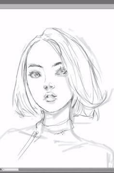 girl side view sketch by bunsyo on deviantart art stuff 3