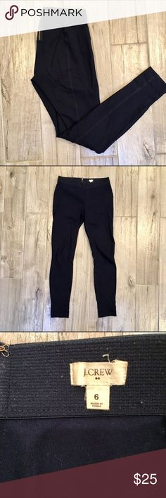 J Crew Ponte Pants   Navy Stretchy comfortable material - perfect for work! Minor pilling on waist band. J. Crew Pants Ankle & Cropped