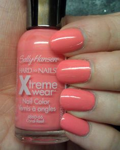 Sally Hansen - Coral Reef Love this color add a white coat underneath for a more bold coral