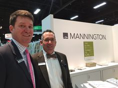 Mannington Sales Managers Travis Knotts and Colin Monette all smiles after another busy day in our booth. #TISE2017