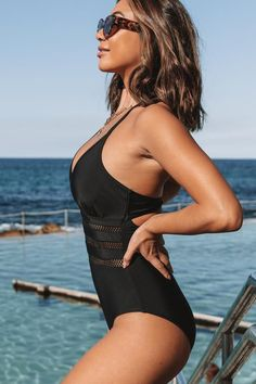 Black Halter Neck Mesh Patchwork One Piece Swimsuit zimmerman swimwear, summer swimsuits bikini, maaji swimwear #bikinilover #bikinis #bikinimodels, dried orange slices, yule decorations, scandinavian christmas