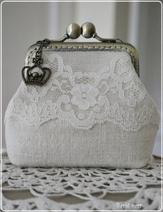 Vintage purse with  lace
