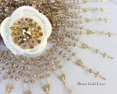 40 pcs cristal década rosarios favorece la por AVAandCOMPANY