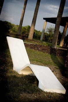 Skinny Concrete Lounge Chair