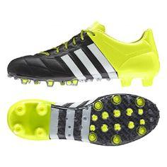 adidas ACE 15.1 Leather TRX FG Soccer Shoes (Black Solar) Tacos De Fútbol 82f2e7a7a61ee