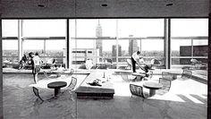 Piscina en la azotea de la Hotel Alameda, Av. Juarez, Centro Historico,  México DF 1960 Arqs. José Villagrán García y Ricardo Legorreta  Rooftop pool of the Hotel Alameda Av Juarez, Centro Historico, Mexico City 1960