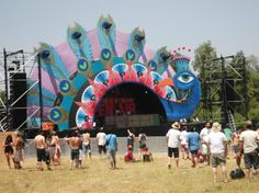 Mysteryland Engagement Stage Decoration, Stage Decorations, Sitemap Design, Dj Pult, Kali Puja, Stage Design, Psychedelic, Eco Friendly, Dan
