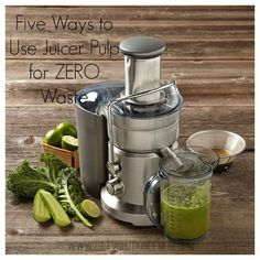 Five Ways to Use Juicer Pulp for ZERO Waste Hate wasting all that pulp from your juicer? Don't! Try these five handy tips for using it up!