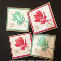 Tracey's Papercraft Creations: Stamp Club Thank You Card using Lotus Blossom FREE Sale-a-Bration Stamp Set www.traceybickerton.stampinup.net www.facebook.com/TraceysPapercraftCreations