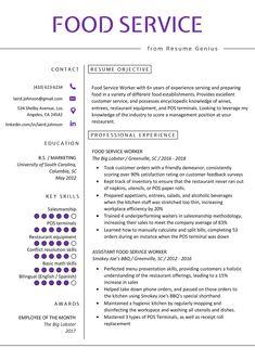 Server Resume Skills Examples Inspirational Food Service Resume Example Writing Tips Food Service Jobs, Food Service Worker, Student Resume Template, Resume Template Free, Templates Free, Resume Skills, Resume Tips, Resume Writing, Writing Tips