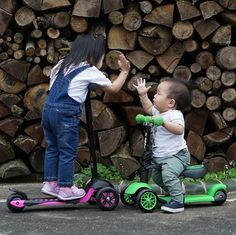 Friends forever! Great picture by @sun_kay 🌲🌲🌲 (share your pictures with us using #yvolution) --- Kids   Outdoor activities   Parenting   Toys   Scooter   Kids scooter   Yvolution   Mother   Toddler   Y Glider