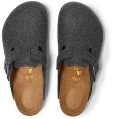 BirkenstockBoston Wool-Felt Sandals