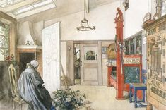 Carl Larsson The Other Half of the Studio