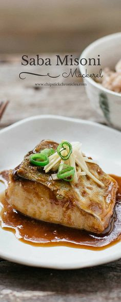 Miso Mackerel. Saba Misoni 鯖の味噌煮