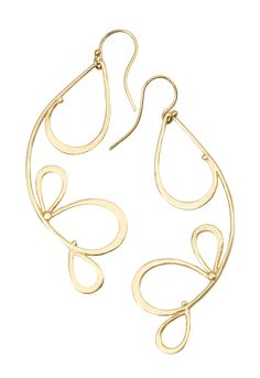 """Julia Britell Gold over Sterling GORgeous """"Bows"""" earrings!"""