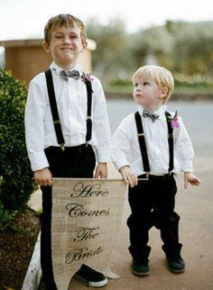 Page boy idea. Love the bow tie.