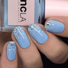 I love wearing holo glitter in the summer! Members Only and Hollywood Hills Hot Number . Cute Nails, Pretty Nails, My Nails, New Years Eve Nails, Hollywood Hills, Holographic Nails, Glitter Nails, Nail Polish, Nail Art