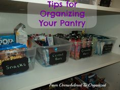 This series is all about organizational tips, strategies, products and inspiration to help you become more organized. This post has tips to help you organize your pantry.