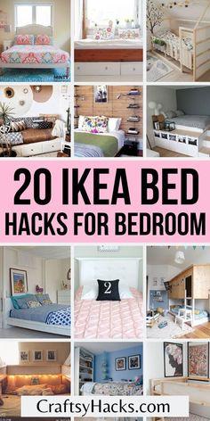 Ikea Hemnes Living Room, Ikea Hack Kids Bedroom, Ikea Hemnes Daybed, Ikea Malm Bed, Hemnes Bed, Ikea Bed Hack, Ikea Bedroom Furniture, Ikea Furniture Hacks, Ikea Storage Bed Hack