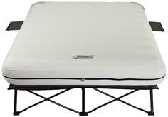 Amazon.com : Coleman Queen Airbed Cot with Side Tables and 4D Battery Pump : Camping Air Mattresses : Sports & Outdoors