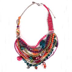 BEADED STATEMENT NECKLACE