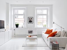 my scandinavian home: Swedish home tour: white with splashes of colour