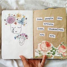 Art Journal Pages Doodles Draw 57 Ideas Art Journal Pages, Album Journal, Art Journal Challenge, Poetry Journal, Art Journal Prompts, Art Journal Techniques, Bullet Journal Art, Journal Quotes, Scrapbook Journal