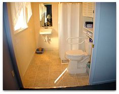 A Pocket Door is a great way to make getting in and out of a bathroom easier for wheelchair users.