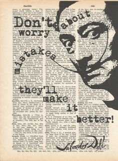 Art Quote Salvator Dali TypographyDictionary art by AtelierDuCiel