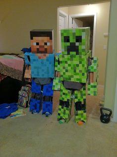 Homemade Minecraft Costume | Homemade Minecraft Costumes! More