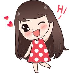 My name is Boobib.I like to wear polka dot dress.Let enjoy with my lovely stickers. Cute Love Pictures, Cute Cartoon Pictures, Cute Love Gif, Cute Bunny Cartoon, Cute Love Cartoons, Chibi Cat, Anime Chibi, Cartoon Girl Drawing, Girl Cartoon