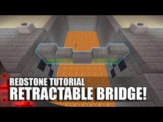 Minecraft: Working Retractable Bridge - YouTube