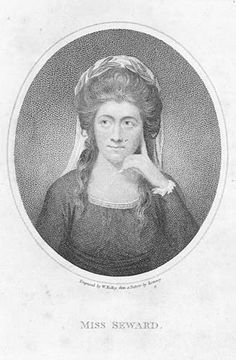 Born in Derbyshire in 1742, Anna Seward was the daughter of Thomas Seward and Elizabeth Hunter. Her father undertook her education and Anna developed her literary tastes at an early age, reading Milton at two and writing religious verse at ten. After her father became Canon of Lichfield Cathedral in 1754, Anna and her family moved to Lichfield and became neighbours of Dr Erasmus Darwin. He became aware of her literary talents and encouraged her to write poetry