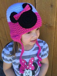 Crochet bebé adulto niño ratón cabeza orejera gorro sombrero Ratones ff990725603