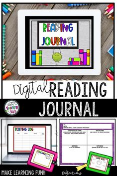 Digital Reading Journal is a great way for your elementary students to log their reading throughout the year.  Perfect for at home or distance learning. Google Drive: Digital Reading Log and Journal helps keep your students accountable for their reading. Keeping a reading journal helps students see how much reading they are doing. Great for grades 3rd, 4th, 5th  #reading #iteachfifth #readingjournals