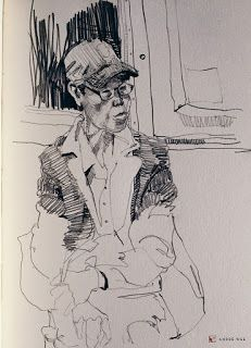 Urban Sketchers: The ride home: Sketches on the subway, New York City