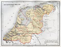 In 1806 werd het Koninkrijk Holland opgericht (1806 - 1810). Holland was een vazalstaat, door Napoleon Bonaparte opgericht voor zijn derde broer, Lodewijk Napoleon Bonaparte. Lodewijk Napoleon Bonaparte was de eerste koning van ons land.