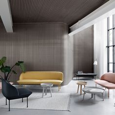 The Oslo Sofa by Muuto offers geometric lines and a light form for refined, comfortable lounging. Available in a two- and three-seater, this sofa invites you and your friends or colleagues to sit back and relax. Oslo, Interior Design Process, Muuto, Design Bestseller, Sofa Shop, Design Museum, Design Moderne, Lounge Areas, Office Interiors