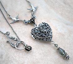 Silver Heart Locket by *Aranwen on deviantART