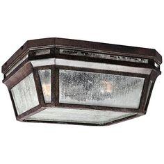 "Feiss Londontowne 11 3/4""H Chestnut Outdoor Ceiling Light"