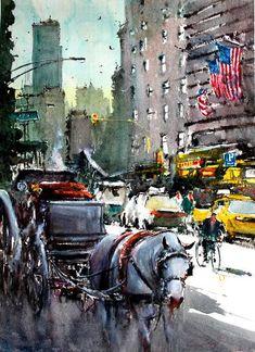 "Saatchi Art Artist maximilian damico; Painting, ""Rest to Central Park"" #art"