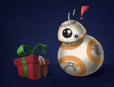 """""""Yes, BB, it's for you!"""" Hope you all are having as great a Christmas as our little droid friend here and Star Wars (c) Disney Merry Christmas Disney Merry Christmas, Star Wars Christmas, Christmas 2015, Christmas Ornaments, Stuff To Do, Holiday Decor, Bb, Deviantart, Home Decor"""