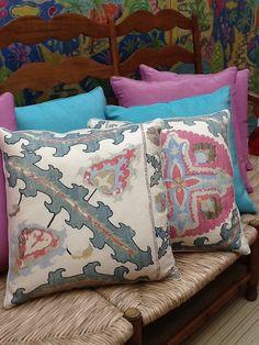 Turquesa Pink e Estampas nas novas almofadas Safira